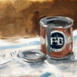 Painting of a Farrow & Ball Sample Pot