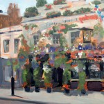 Painting of 'The Churchill Arms' Kensington, by Helen-Davison