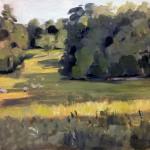 Landscape painting Coln St Aldwyns