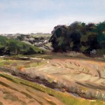Slad Valley landscape painting