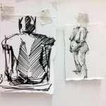 Charcoal gesture sketching by Helen Davison