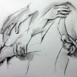 Charcoal hand sketches by Helen Davison