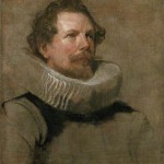 Head of a Bearded Man wearing a Wheel Ruff by Antony Van Dyck