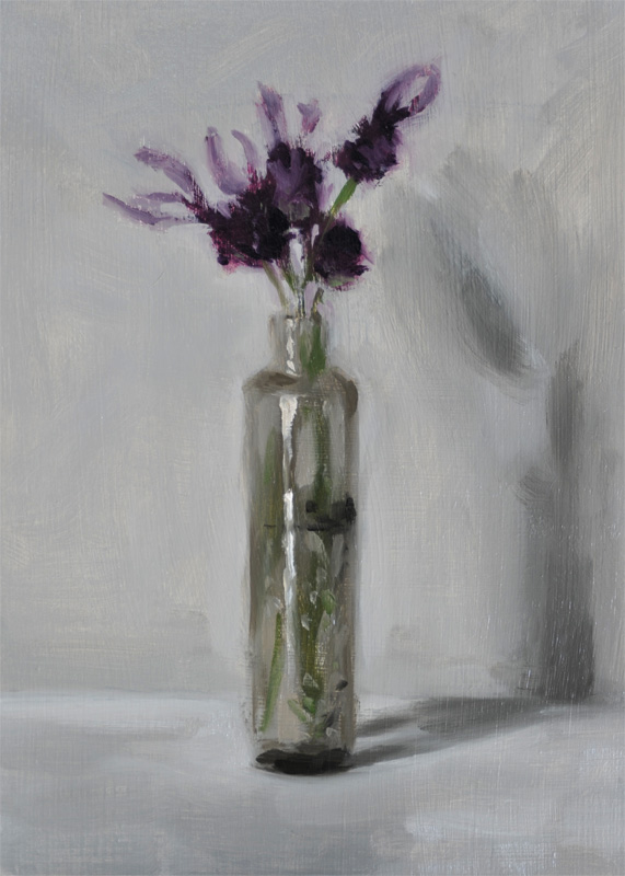 Lavender in the old glass bottle helen davison bradley Painting old glass bottles