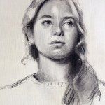 Charcoal portrait drawing by Helen Davison
