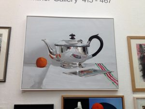 RWA Exhibition - 'Teapot with Postcard' by Alan-Kingsbury