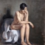 Seated Nude oil painting by Helen Davison