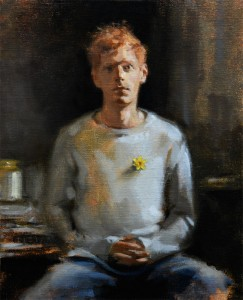 """Oil portrait on linen, 12"""" x 10"""". 2015 by Helen Davison"""