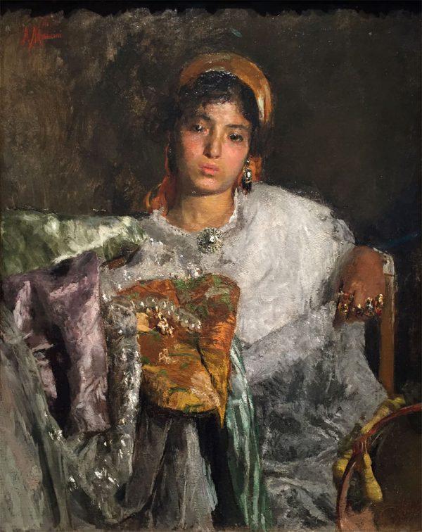 Painting by Antonio Mancini