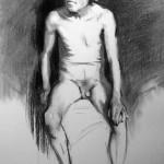 Charcoal figure drawing - Helen Davison