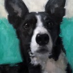 dog portrait in oil by Helen Davison