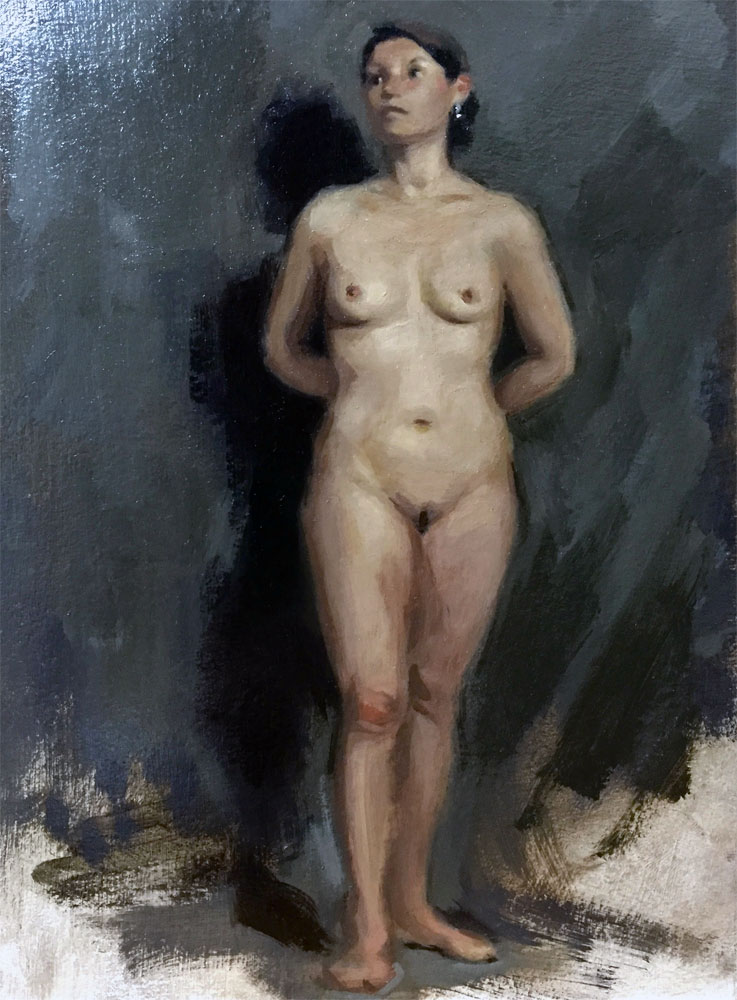 Figure painting by Helen Davison