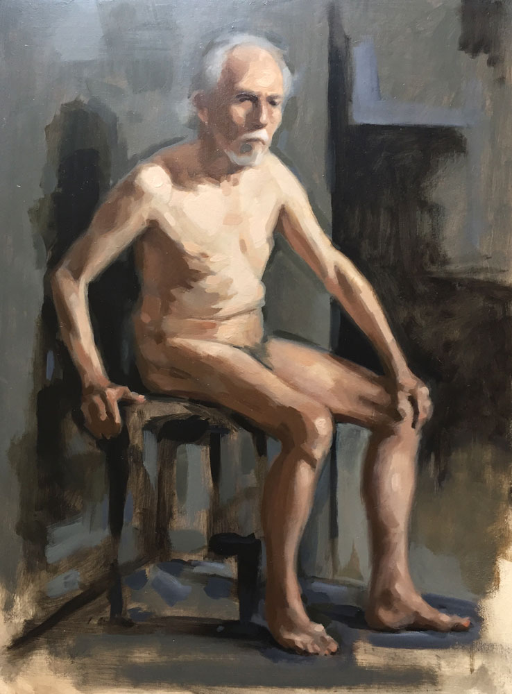 Nude oil painting by Helen Davison