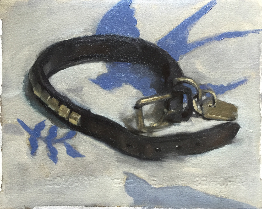 """Sophie's Collar"", 8"" x 6"", oil on Arches oil paper"