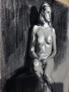 Charcoal figure drawing - Helen Davison