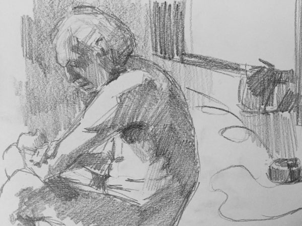 Life drawing gesture sketches by Helen Davison