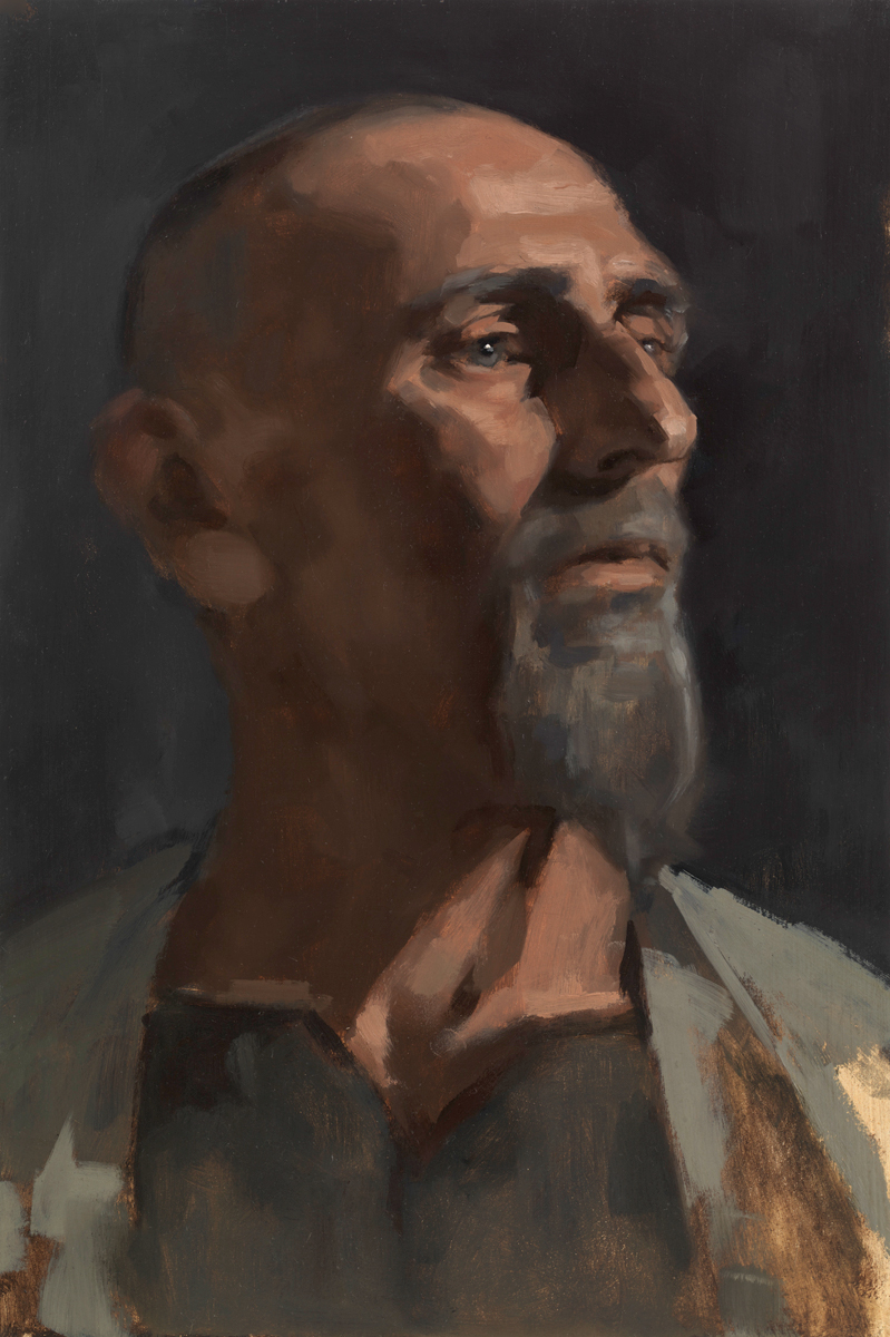 Oil portrait sketch of Fred by Helen Davison