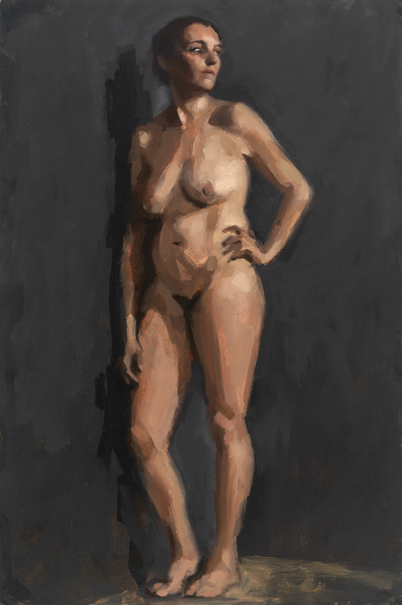 Female figure painting by Helen Davison Bradley