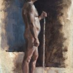 Male figure painting by Helen Davison Bradley