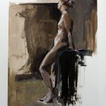 Gouache painting of a figure by Helen Davison
