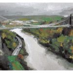 Gouache painting of Clifton Suspension Bridge by Helen Davison