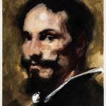 Watercolour masterclass's copy of a painting by Velasquez by Helen Davison